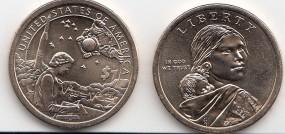 USA Native Dollar( Sacagawea ) 2019, Buchstabe D, bankfrisch