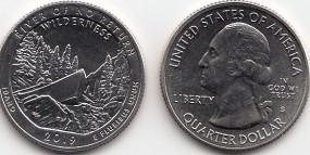 USA Quarter 2019, Church River, Buchstabe P, bankfrisch