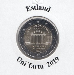 Estland 2 € 2019, Uni Tartu, bankfrisch