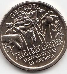 USA, Innovation Dollar, 2019, Trustees Garden, Georgia, Buchstabe D, bankfrisch