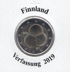 Finnland 2 € 2019, Verfassung, bankfrisch