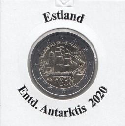 Estland 2 € 2020, Endeckung d. Antarktis,bankfrisch