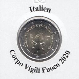 Italien 2 € 2020, Feuerwehr ( Corpo Fuoco ) , bankfrisch