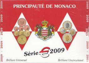 Monaco Kursmünzsatz 2009 ST