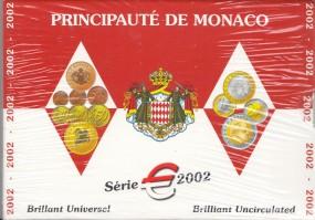 Monaco Kursmünzsatz 2002 ST