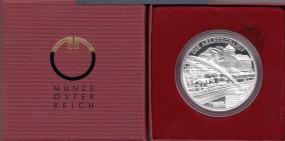 Österreich 20 € 2009, Die Elektrifizierung der Bahn, Silber, PP