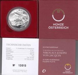 Österreich 20 € 2011, Nikolaus Joseph von Jacquin, Silber, PP