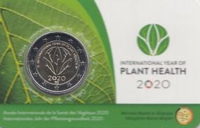 Belgien 2 € 2020, Pflanzengesundheit in Coincard ( wallonisch )