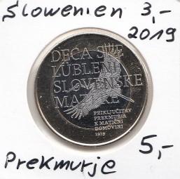 Slowenien 3 € 2019, Prekmurje, bankfrisch