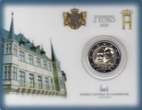 Luxemburg 2 € 2020, Henri Oranienburg-Nassau, in Coincard, mit Prägezeichen Brücke