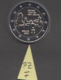 Malta 2 € 2020, Ta Skjorba mit Prägezeichen F im Stern