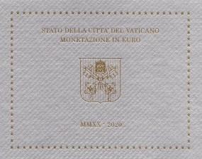 Vatikan Kursmünzsatz 2020 ST im Blister