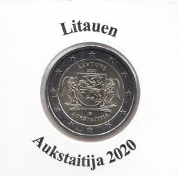 Litauen 2 € 2020, Aukstaitija, bankfrisch aus der Rolle