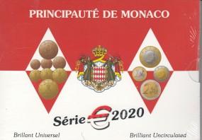 Monaco Kursmünzsatz 2020 ST