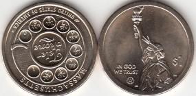 USA Innovation Dollar 2020, Massachusetts, P, bankfrisch