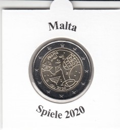 Malta 2 € 2020, Games , bankfrisch aus der Rolle