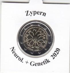 Zypern 2 € 2020 Neurologie + Genetik, bankfrisch aus der Rolle