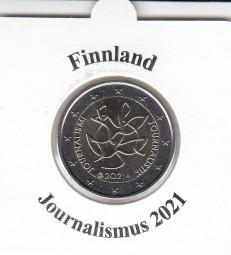 Finnland 2 € 2021 Journalismus, bankfrisch aus der Rolle