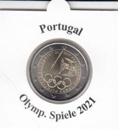 Portugal 2 € 2021, Olympiade, bankfrisch