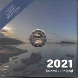 Finnland 2 € 2021, 100 J. Alandinseln in PP