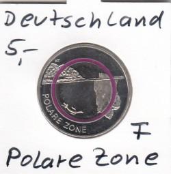 Deutschland 5 Euro 2021, Polymer, Polare Zone,bankfrisch aus der Rolle, Buchstabe meiner Wahl