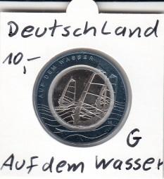 Deutschland 10 Euro 2021, Polymer, Auf dem Wasser, bankfrisch aus der Rolle