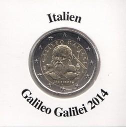 Italien 2 € 2014, Galileo Galilei