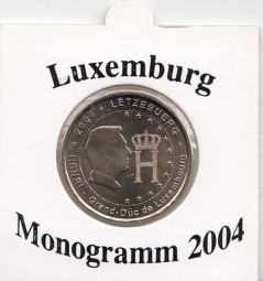 Luxemburg 2 € 2004, Monogramm