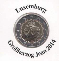Luxemburg 2 € 2014, Großherzog Jean