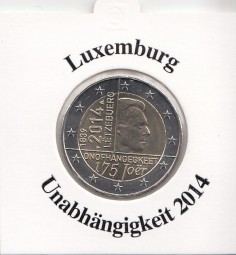 Luxemburg 2 € 2014, Unabhängigkeit