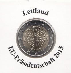 Lettland 2 € 2015 , Ratspräsidentschaft