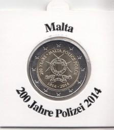 Malta 2 € 2014, 200 Jahre Polizei