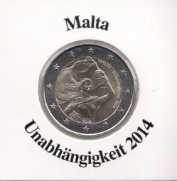 Malta 2 € 2014, Unabhängigkeit