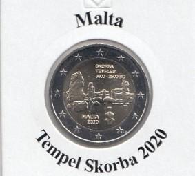 Malta 2 € 2020, Ta Skorba, bankfrisch