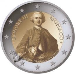 Monaco 2 € 2020, 300 Geburtstag Fürst Honore III , PP, mit Etui + Zertifikat- Vorverkauf-
