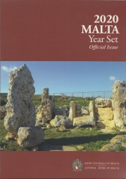 Malta Kursmünzsatz 2020 ST / BU incl. 2 € Gedenkm. mit PZ F