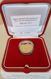 Monaco 2 € 2016 , 150 Jahre Gründung Monte Carlo, polierte Platte