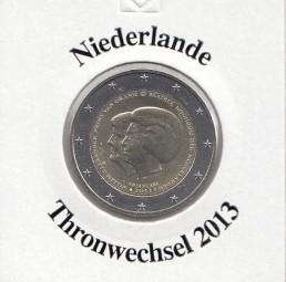 Niederlande 2 € 2013, Thronwechsel
