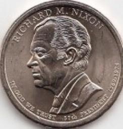 USA Präsidentendollar 2016 Nixon, Buchstabe P, bankfrisch aus der Rolle