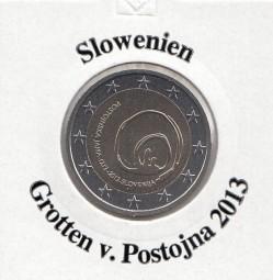 Slowenien 2 € 2013, Grotten v. Postojna