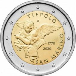 San Marino 2 € 2020, 250. J. Tiepolo im Blister