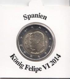 Spanien 2 € 2014 König Felipe VI
