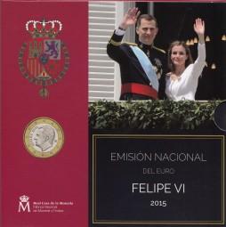 Spanien Kursmünzsatz 2015 ST
