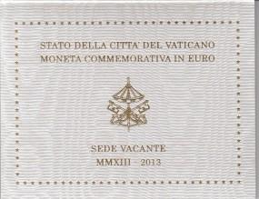 Vatikan 2 € 2013 , Sede Vacante