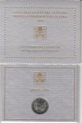 Vatikan 2 € 2020 100 Geb. Joh. Paul im Blister