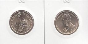 29 USA Präsidenten - Dollar 2014, Harding, Buchstabe P