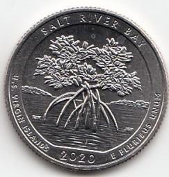 USA Quarter 2020 Salt River Bay, bankfrisch, Buchstabe P