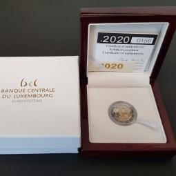 Luxemburg 2 € 2020, Geburt Charles PP im Etui + Zertifikat