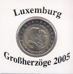Luxemburg 2 € 2005, Großherzöge