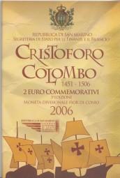 San Marino 2 € 2006, Columbus